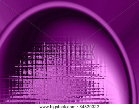 Abstract Pink Background With Sound Wave Like Properties