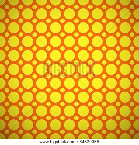 different vector seamless pattern. Orange and yellow colors