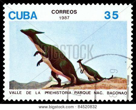Vintage  Postage Stamp.   Dinosaur. 2.