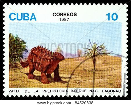 Vintage  Postage Stamp.   Dinosaur. 3.