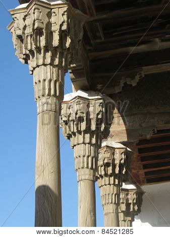 Wooden Colonnade