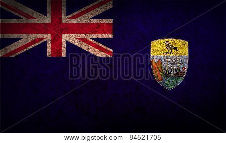 Flag Of Saint Helena With Old Texture. Vector