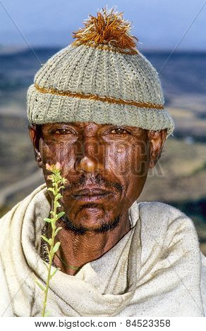 Unidentified Old Farmer From Lalibela Tribe