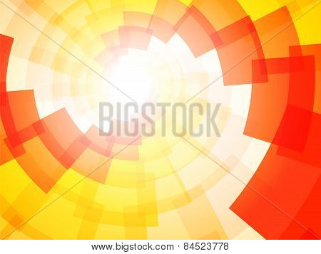 Modern Bright Yellow Orange Background With The Motif Of Tornadoes
