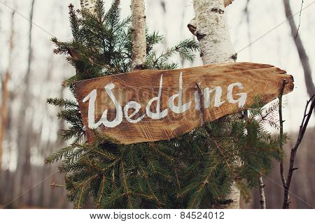 wedding decor in the forest