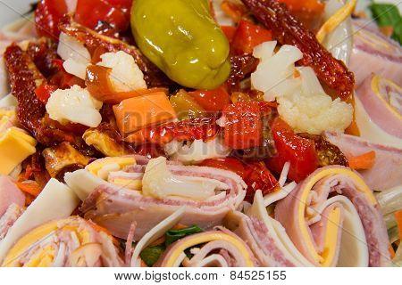Antipasto Salad, Closeup