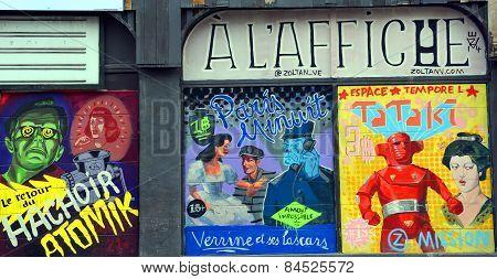 Street art Montreal vintage film