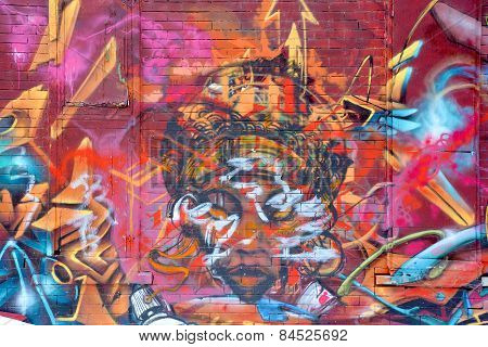 Street art Montreal god