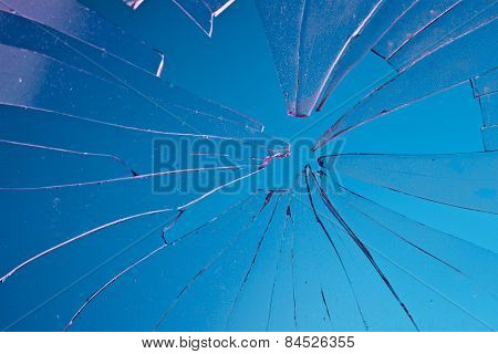 broken blue glass