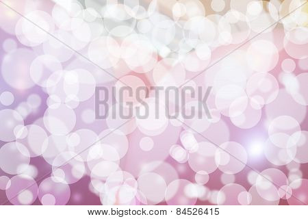 Pink spacey bubbles background bokeh
