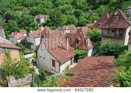 Rooftops Of Saint Circ Lapopie In France