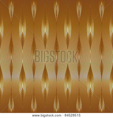 Vintage vector gold wallpaper.