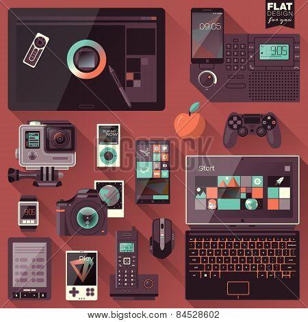 Flat Design Gadgets