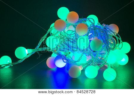Coloful Christmas Lights isoated