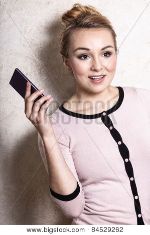 Businesswoman With Phone Cancelling Call