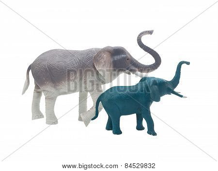 Elephant toys profile.