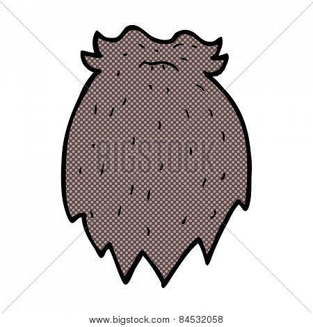 retro comic book style cartoon fake beard