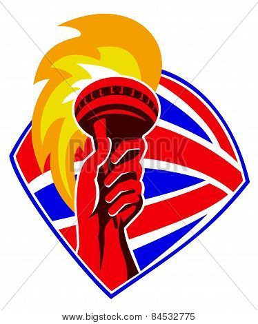 Torch-flames-hand-british-shield