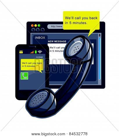 Telephone-smartphone-web-callback