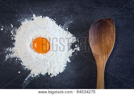 Flour Egg Wooden Spoon