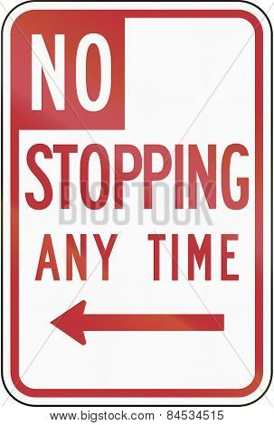 No Stopping Any Time