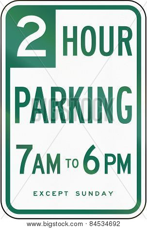 2 Hour Parking California