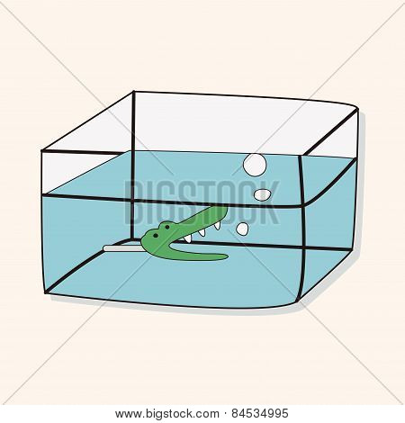 Pet Fish Bowl Theme Elements Vector,eps10