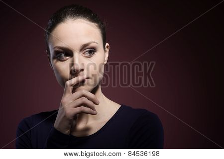 Pensive Woman Portrait