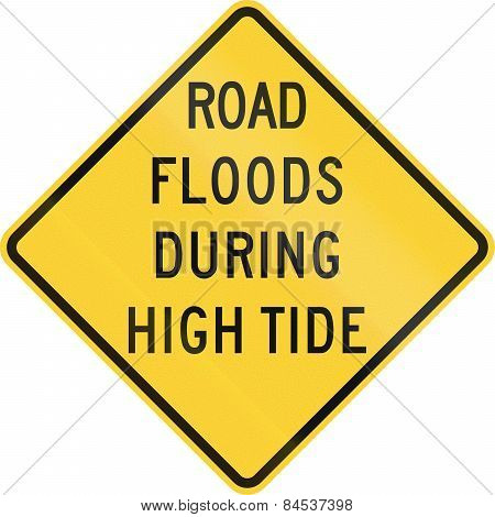 Road Floods During High Tide