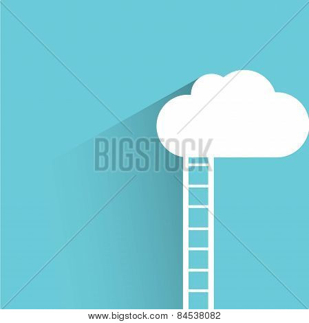 cloud and stairway