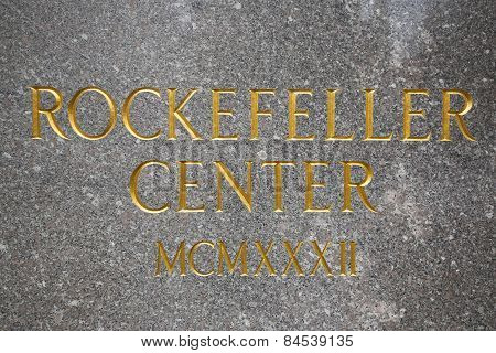 Rockefeller Center Sign in Midtown Manhattan