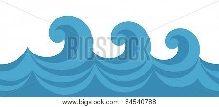 Vector illustration of a seamless texture wave