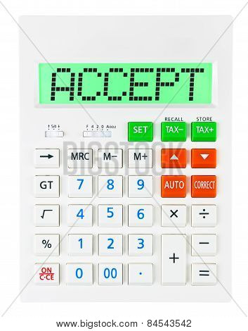 Calculator With Accept