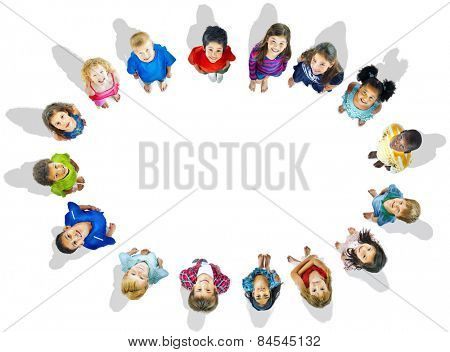Diversity Childhood Children Happiness Innocence Friendship Concept