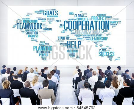 Coorperation Business Coworker Planning Teamwork Concept
