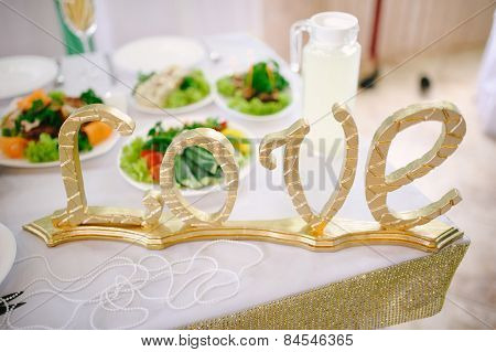 Banquet wedding table decor