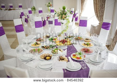 Banquet wedding table