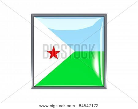 Square Icon With Flag Of Djibouti