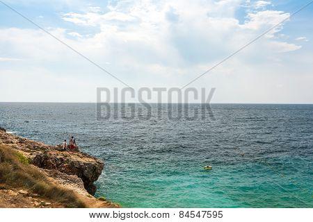 Wild beach in Pula, Croatia
