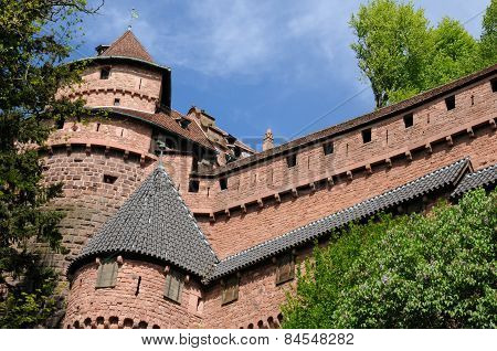 The Chateau Du Haut Koenigsbourg In Alsace