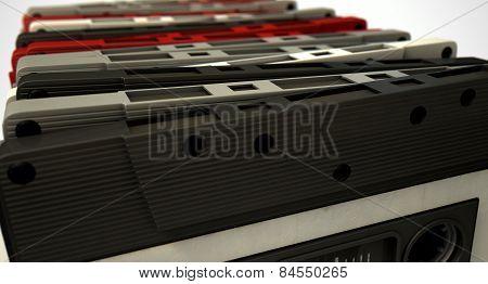 Cassette Tape Stack