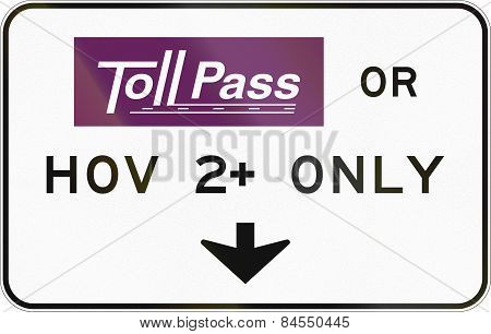Tollpass Or Hov Only