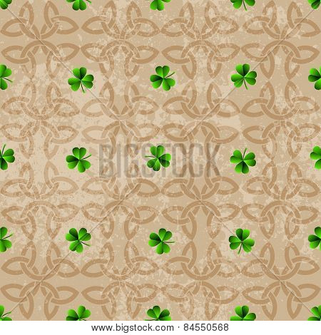Celtic background with clover.