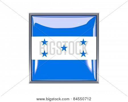 Square Icon With Flag Of Honduras