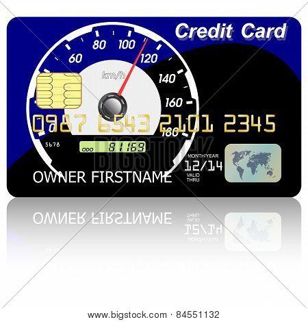 Credit Card  Speedometer