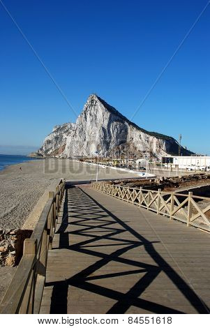 View of Gibraltar, La Linea de la Concepcion.