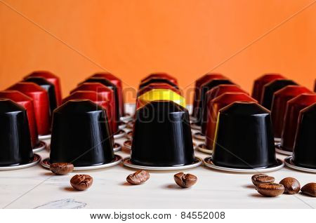Set Of Espresso Coffee Capsules For Machine