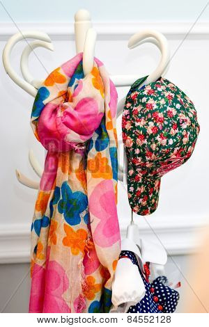 Multicolored Colorful Scarf And Cap