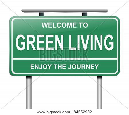 Green Living Concept.