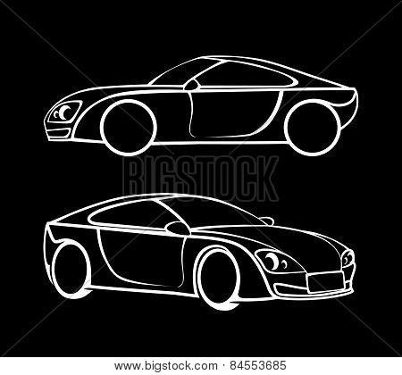 Vector car silhouettes